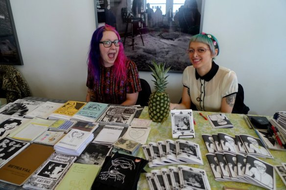 At the Chicago Zine Fest, photo by Meredith Wallace.