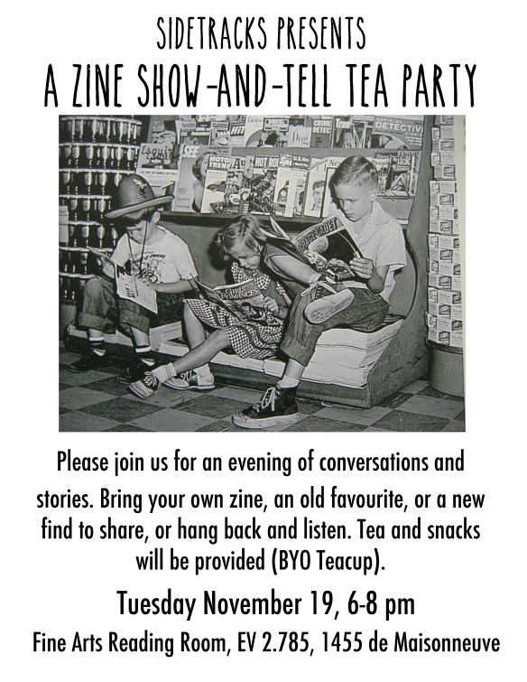 zine party flier