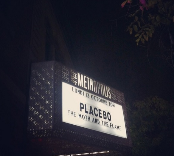 Placebo on the marquee, photo from my Instagram: @amber_dearest