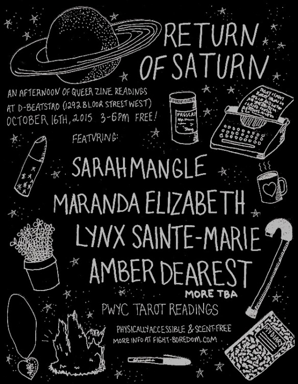 Return of Saturn flier by Amber Dearest